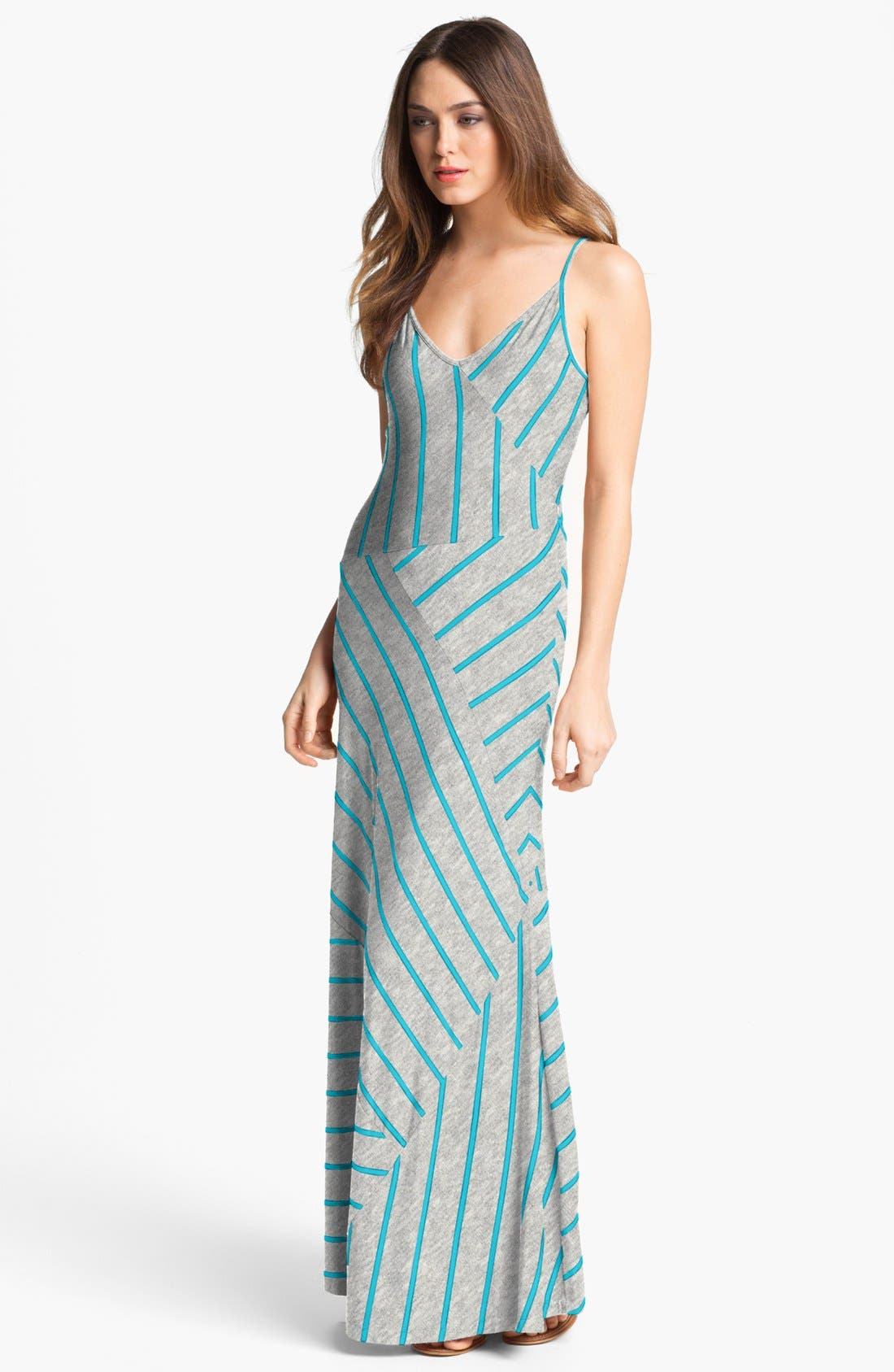 Alternate Image 1  - Calvin Klein Stripe Jersey Maxi Dress
