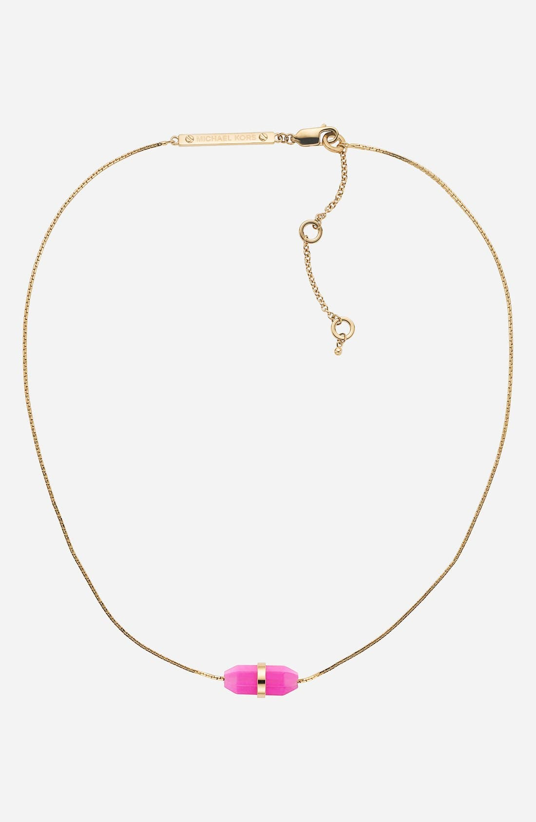 Alternate Image 1 Selected - Michael Kors 'Seaside Luxe' Stone Pendant Necklace