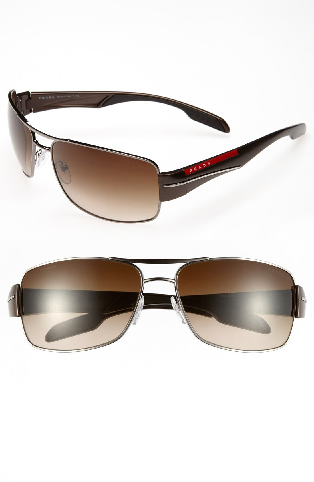 Main Image - Prada 65mm Aviator Sunglasses