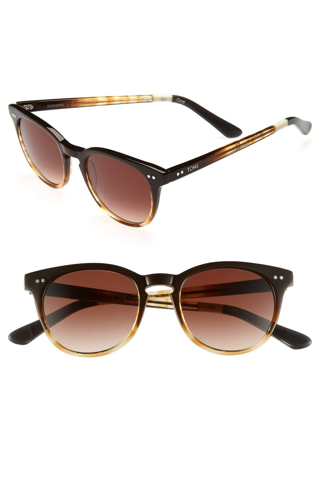 Alternate Image 1 Selected - TOMS 'Dodoma' 48mm Vintage Keyhole Sunglasses