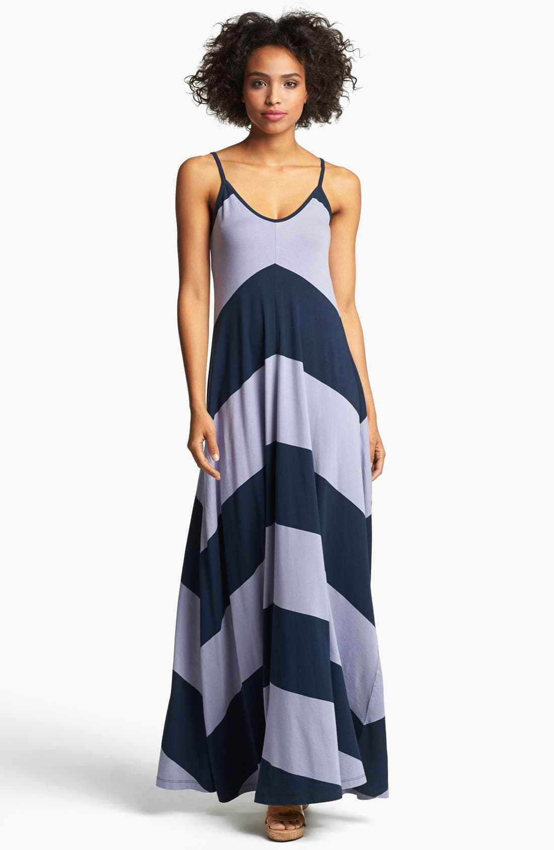 Alternate Image 1 Selected - French Connection Chevron Stripe Maxi Dress