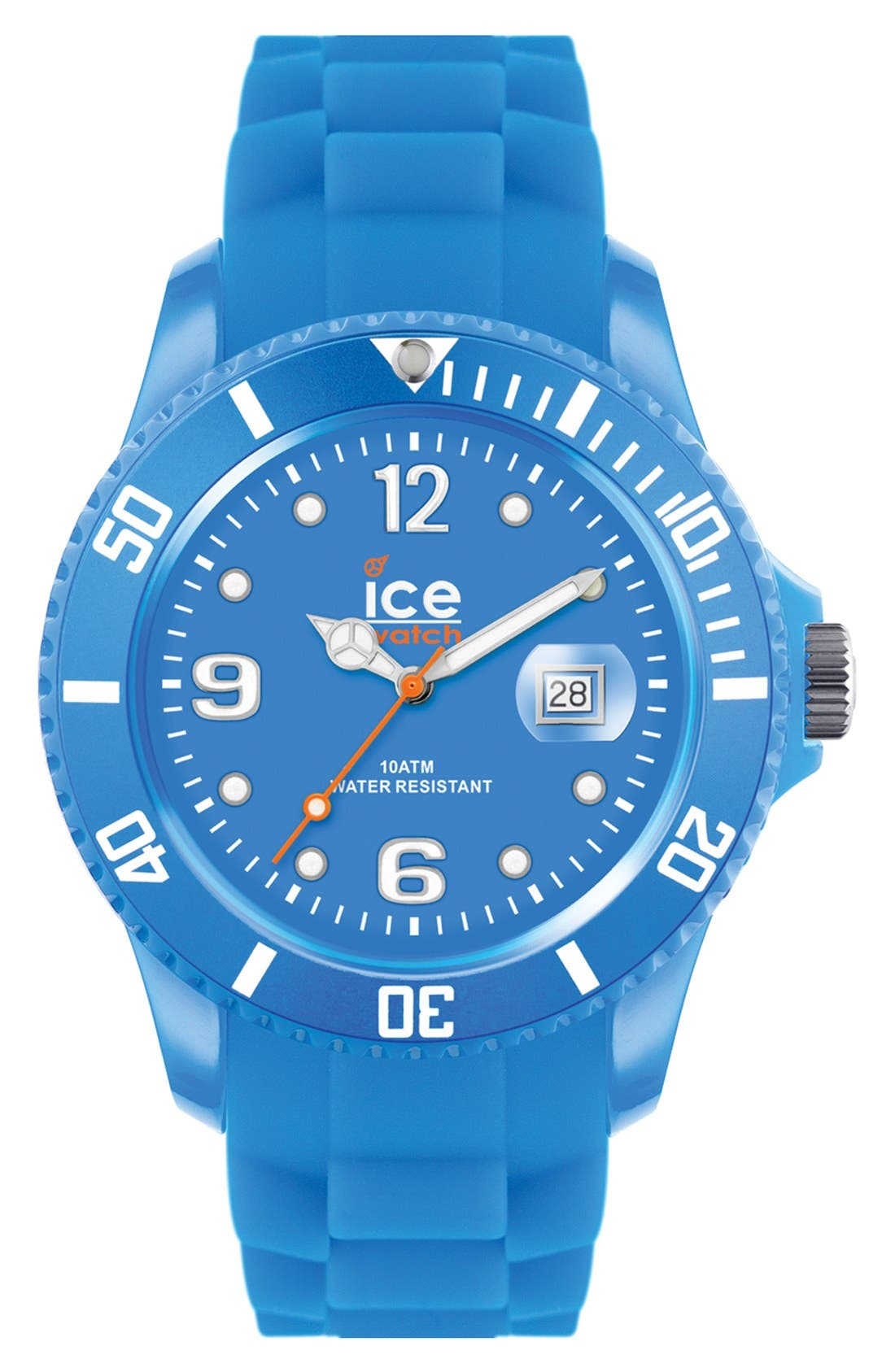 Alternate Image 1 Selected - ICE Watch 'Ice Flashy' Silicone Bracelet Watch, 43mm