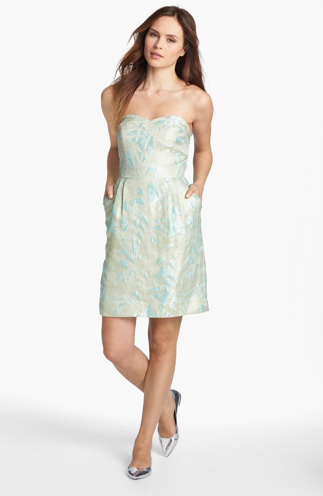Main Image - kate spade new york 'faye' jacquard a-line dress