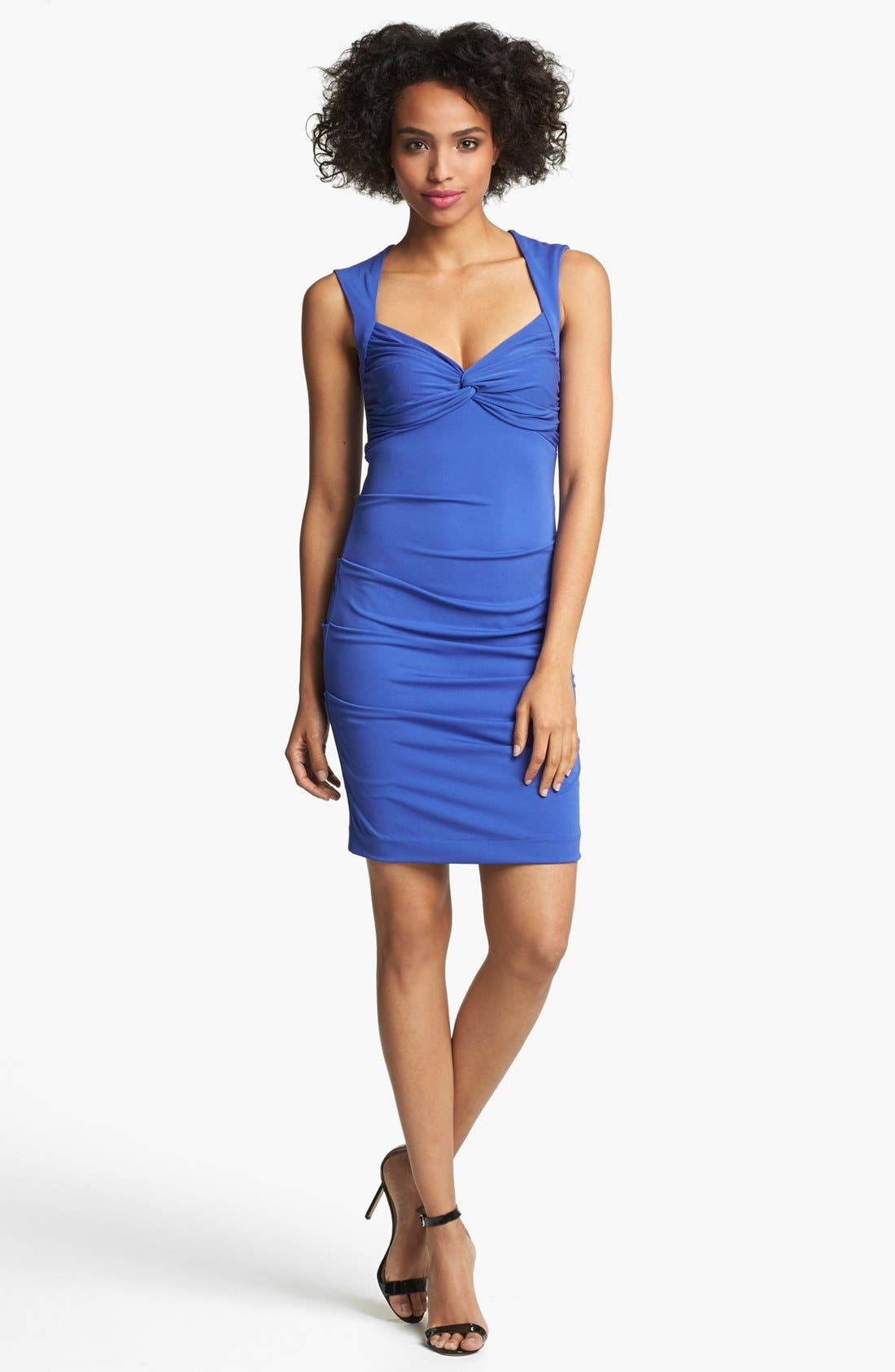 Alternate Image 1 Selected - Nicole Miller Ruched Matte Jersey Dress
