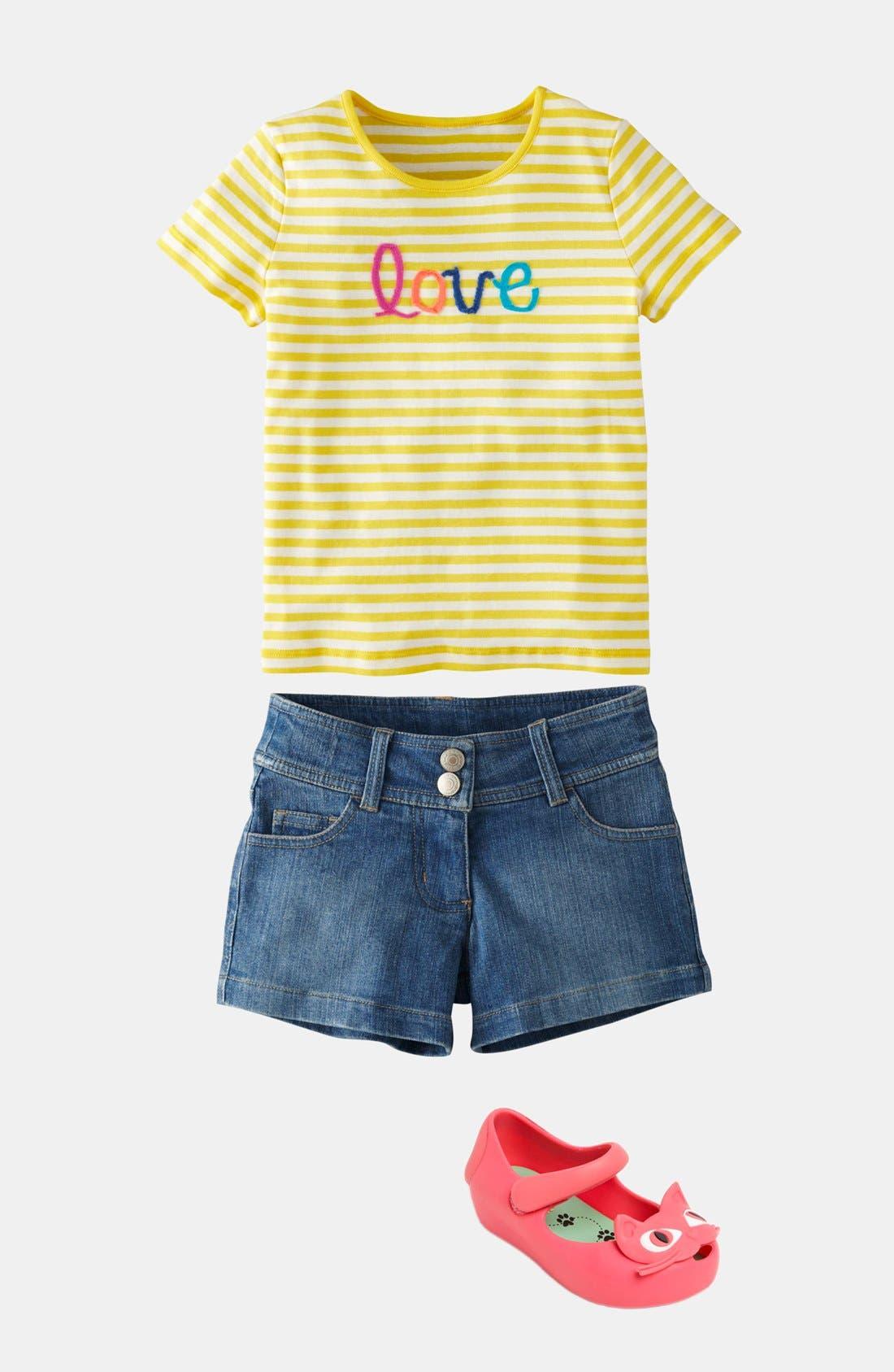Alternate Image 2  - Mini Boden 'Heart Pocket' Denim Shorts (Toddler, Little Girls & Big Girls)