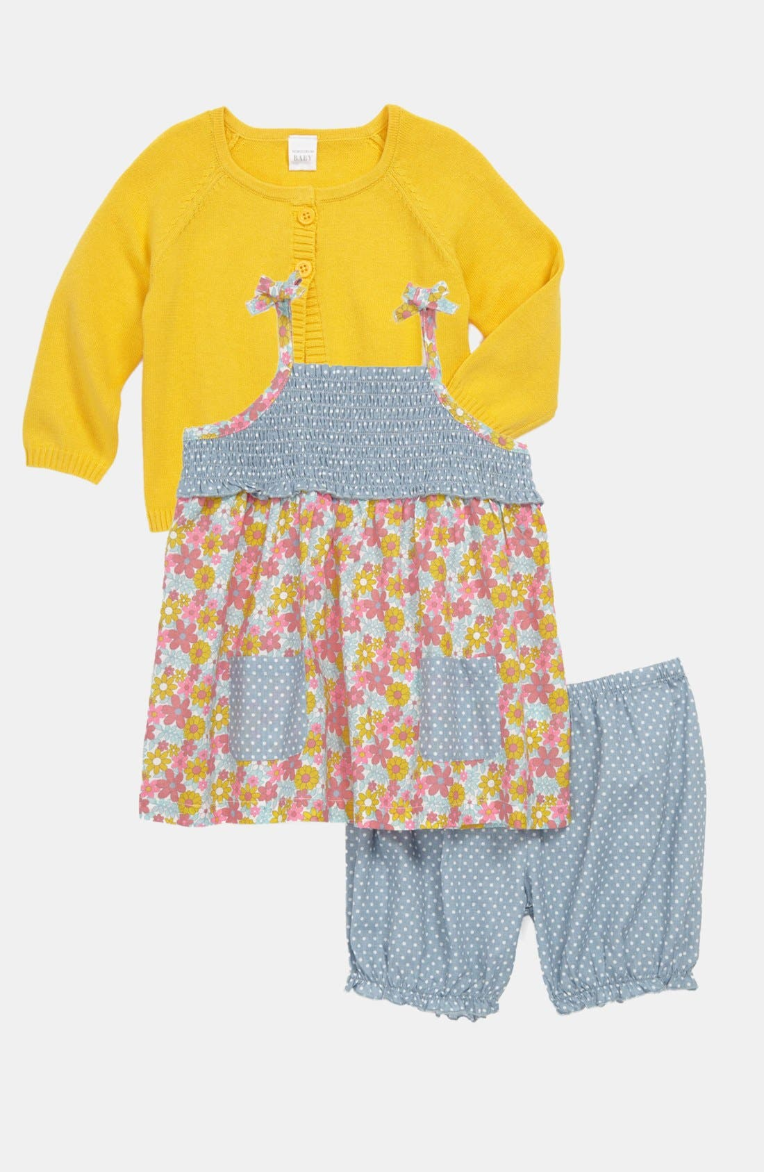 Main Image - Nordstrom Baby Cardigan, Dress & Pants