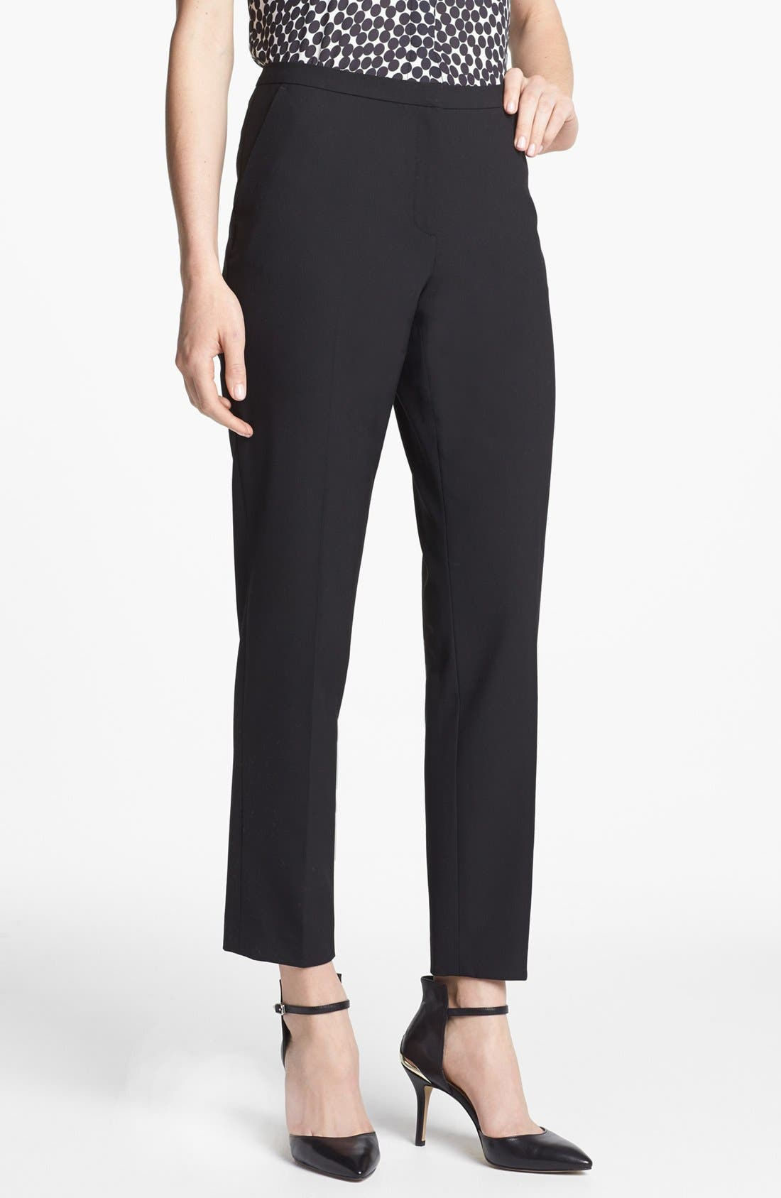 Alternate Image 1 Selected - Halogen® 'Quinn' Skinny Ankle Pants (Regular & Petite)