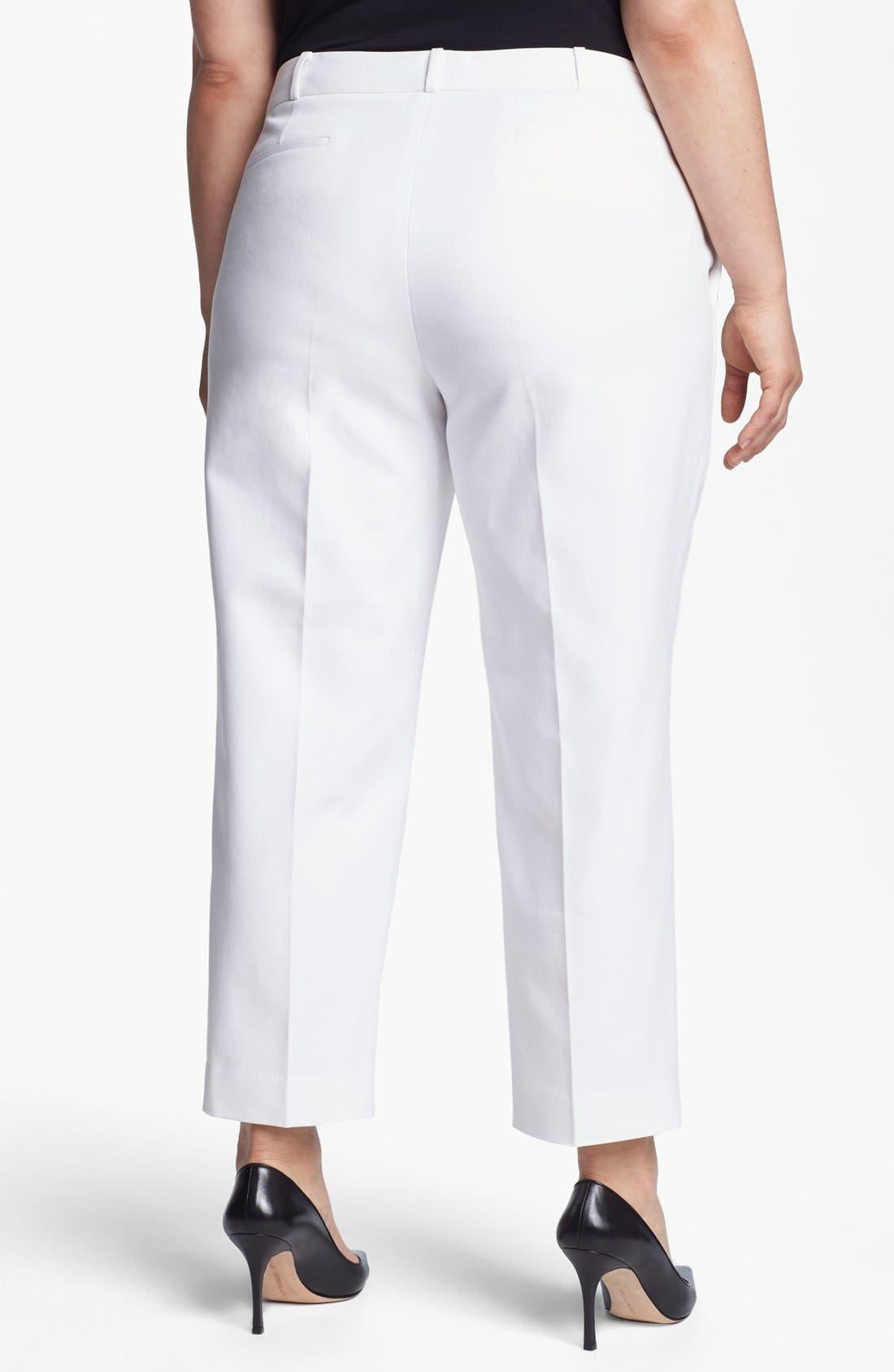 Alternate Image 2  - Anne Klein Slim Leg Pants (Plus Size)