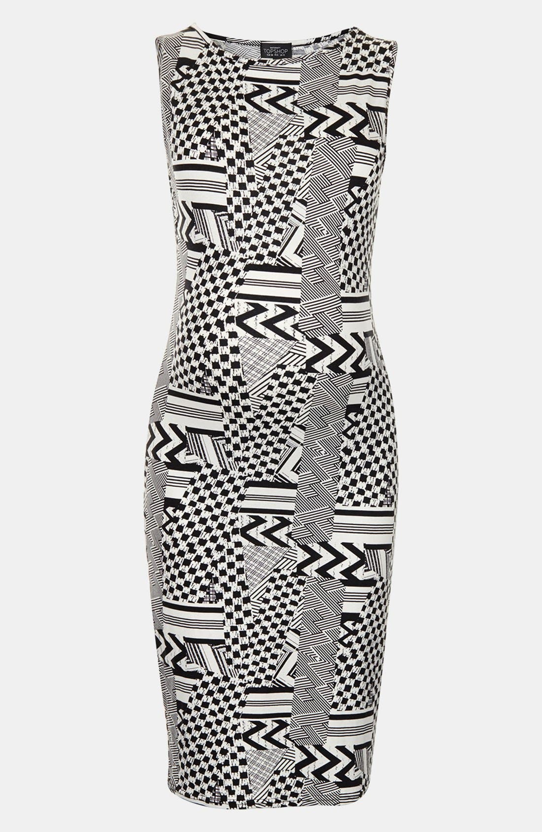 Alternate Image 1 Selected - Topshop Jigsaw Body-Con Maternity Dress