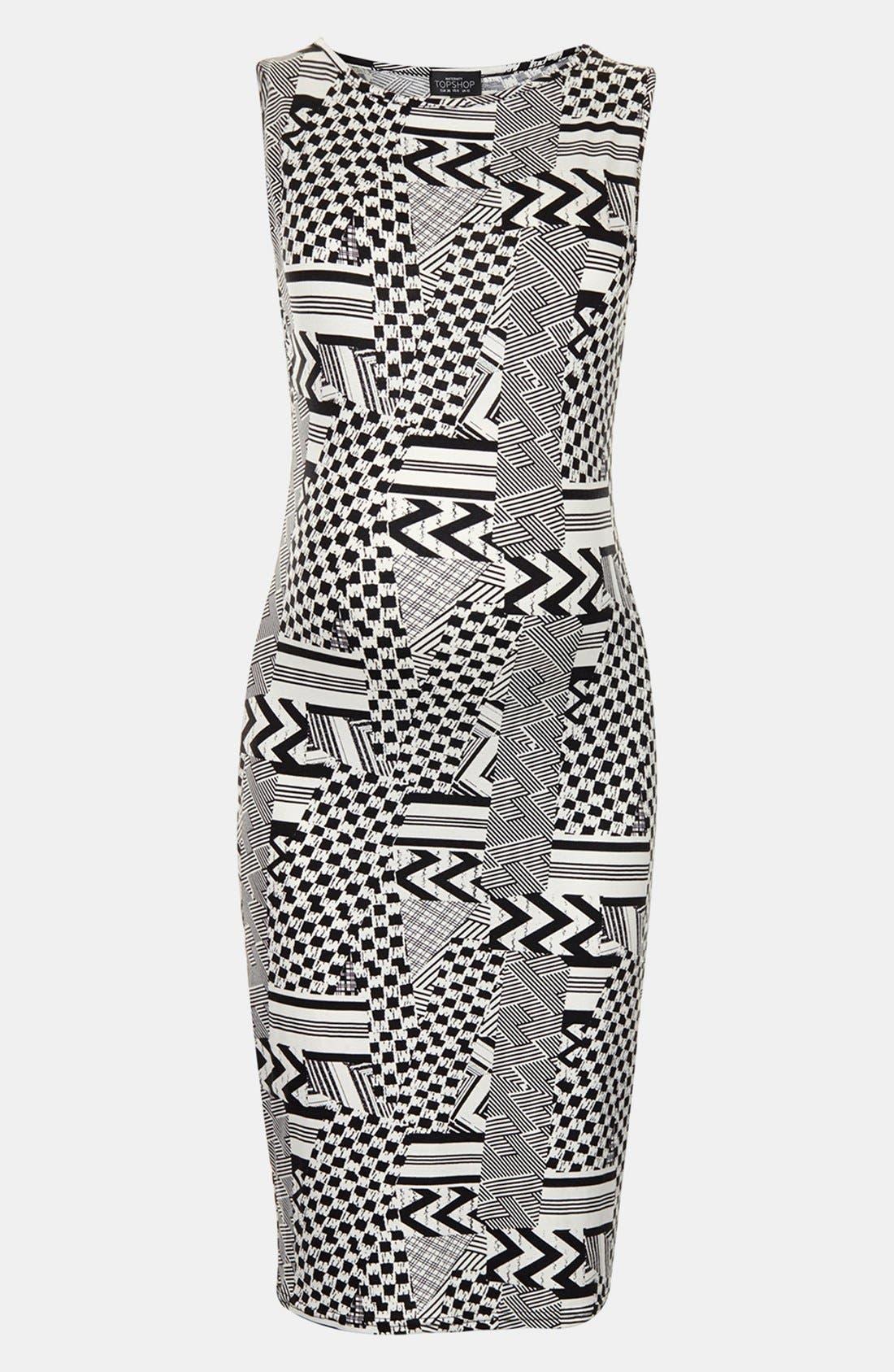Main Image - Topshop Jigsaw Body-Con Maternity Dress