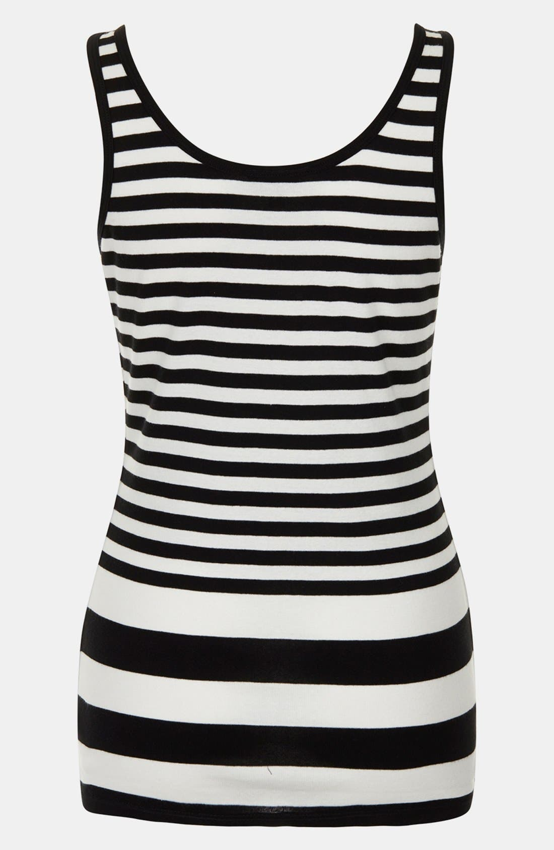Alternate Image 2  - Topshop Stripe Cotton Maternity Tank