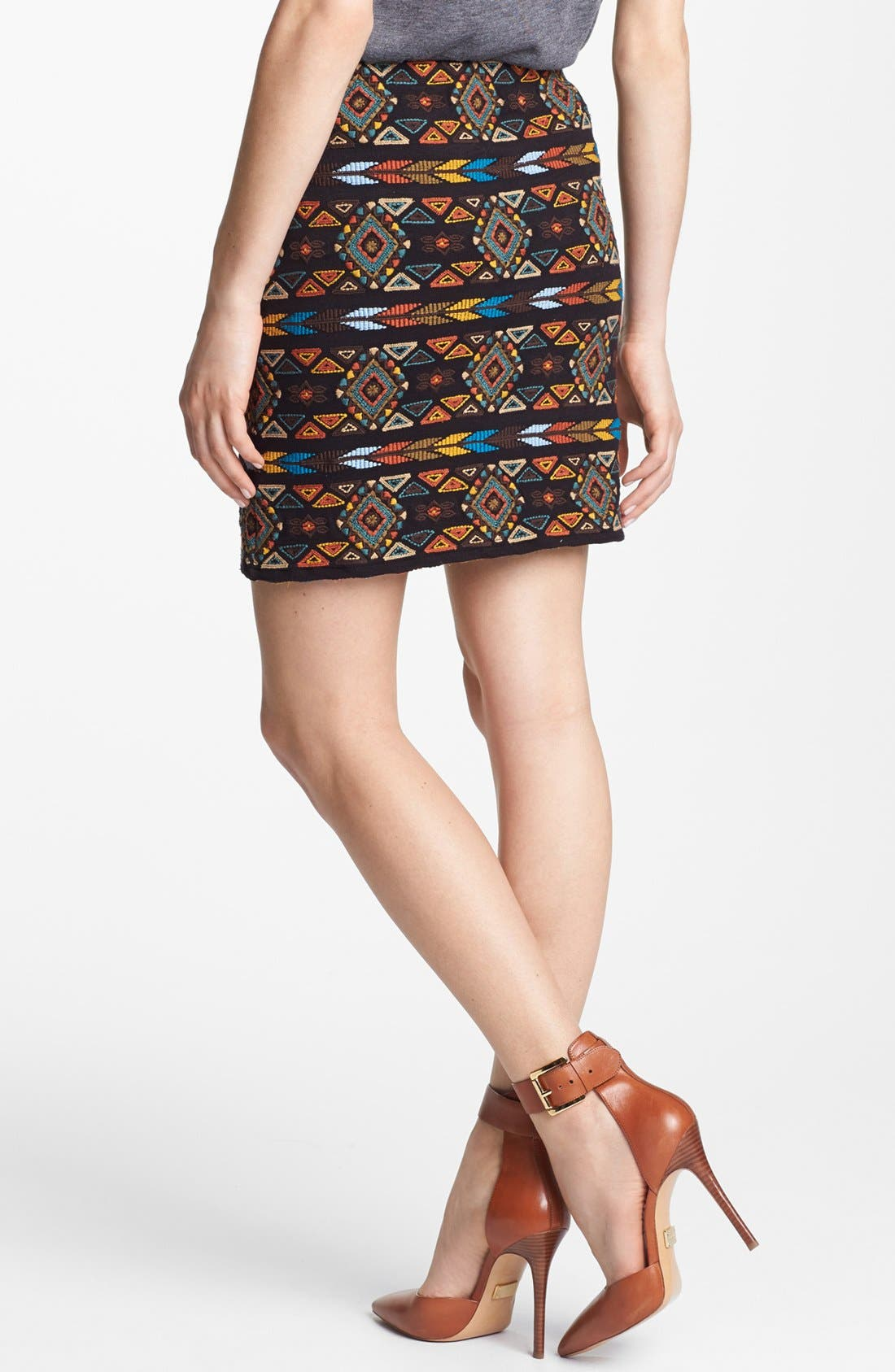 Alternate Image 2  - Willow & Clay Embroidered Pencil Skirt