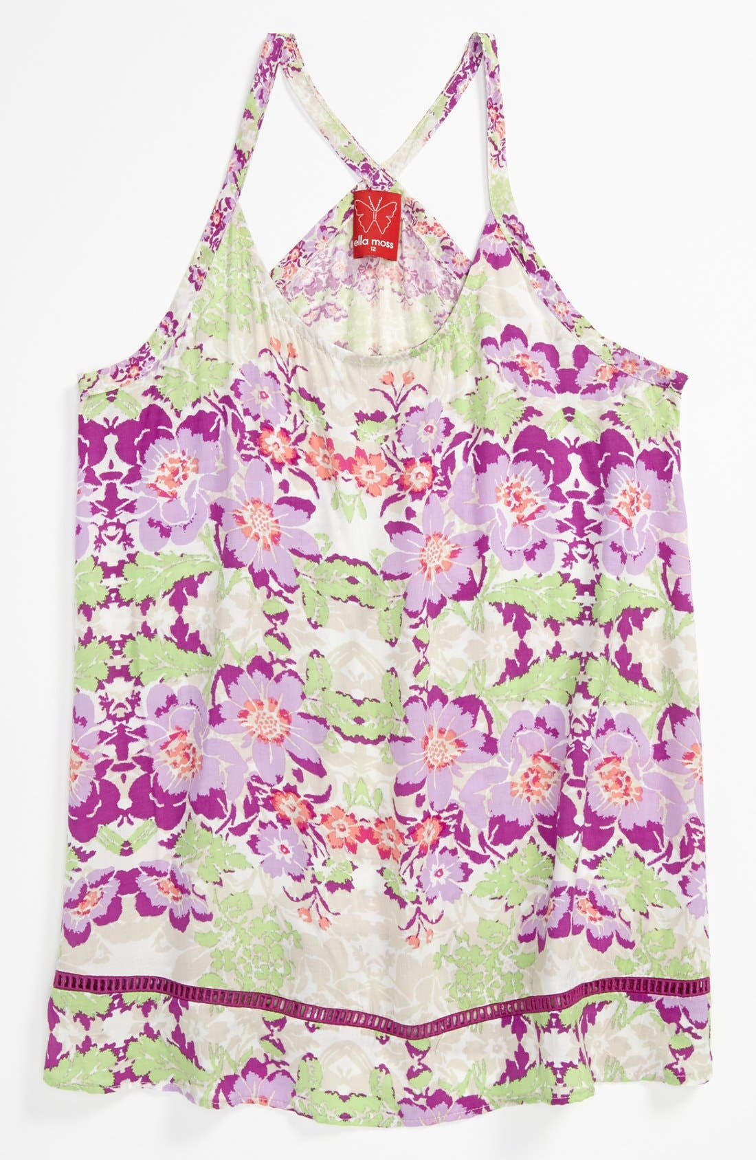Alternate Image 1 Selected - Ella Moss 'Floral Lei' Tank Top (Big Girls)