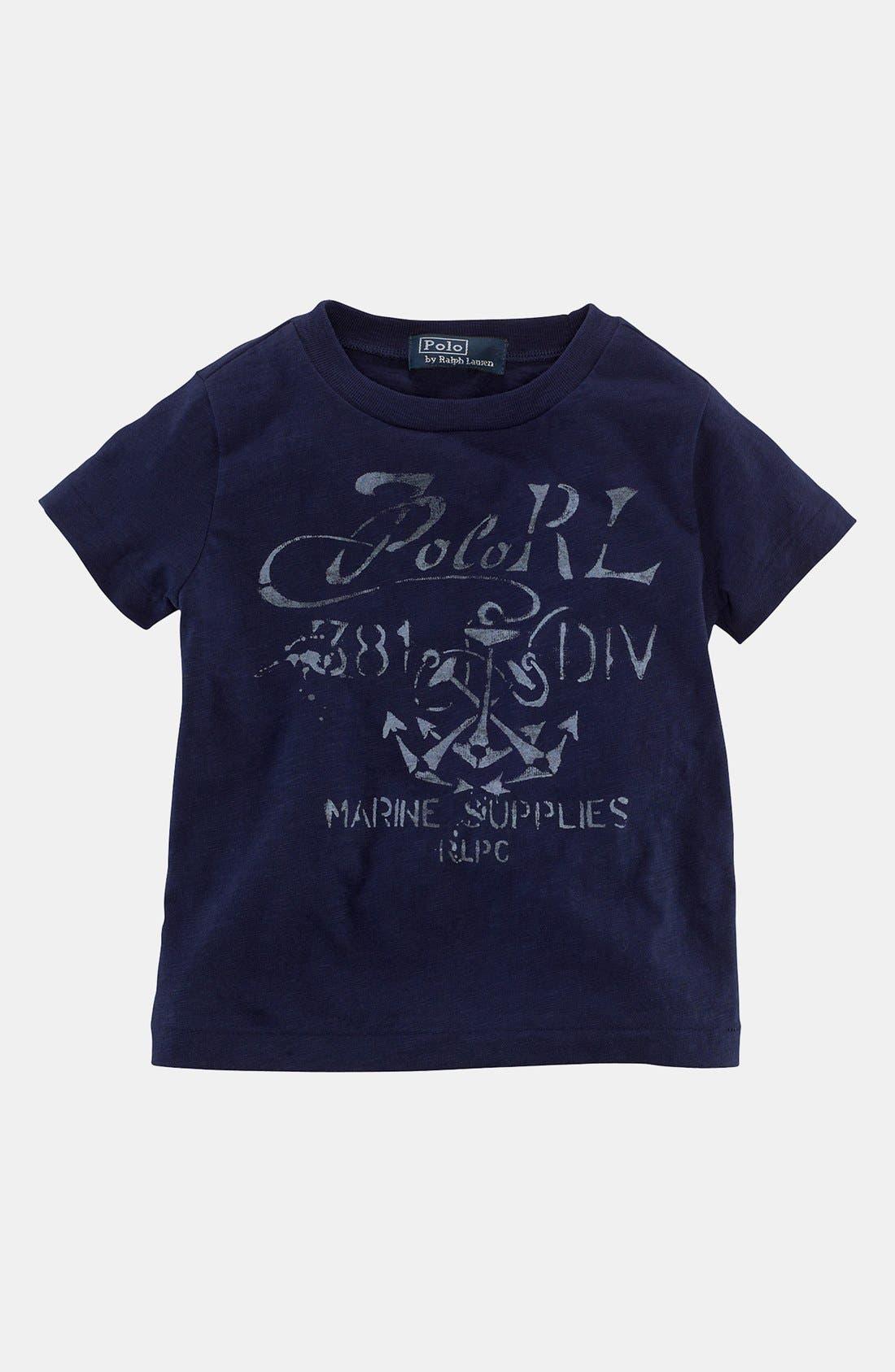 Alternate Image 1 Selected - Ralph Lauren Graphic T-Shirt (Baby Boys)