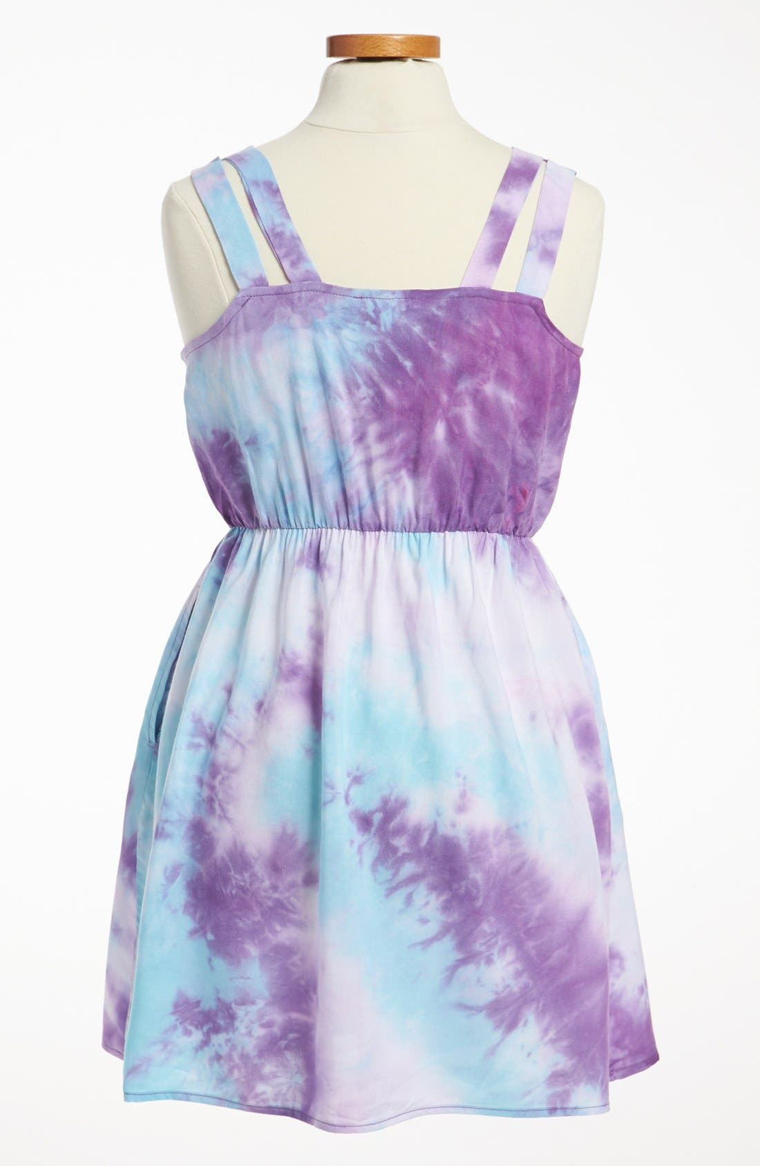 Alternate Image 2  - Mia Chica Two Tone Dress (Big Girls)