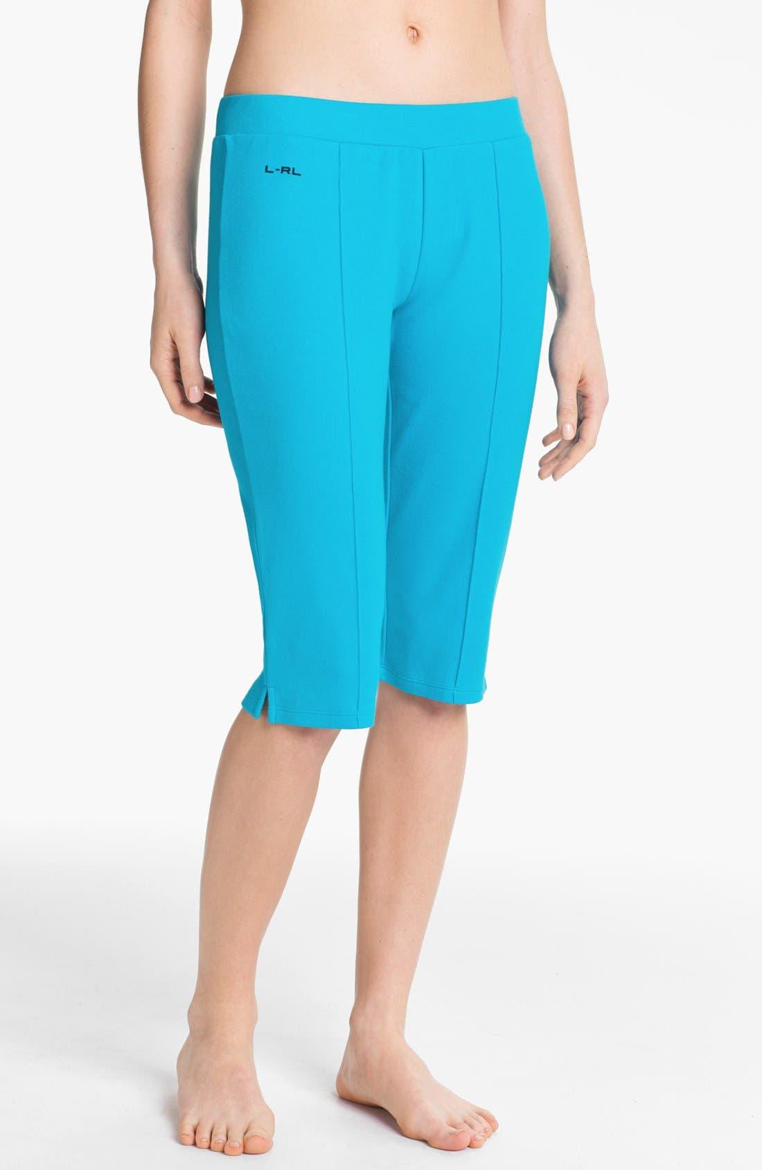 Alternate Image 1 Selected - Lauren Ralph Lauren Knit Skimmer Pants
