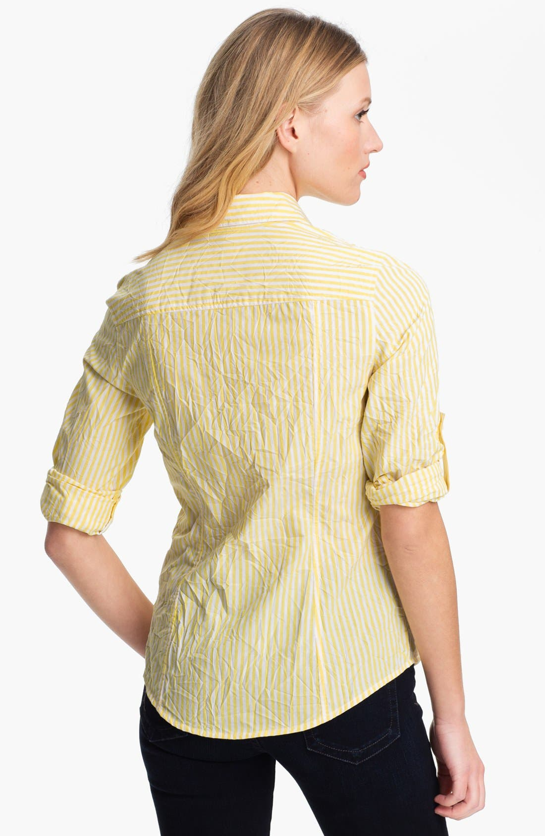 Alternate Image 2  - MICHAEL Michael Kors Stripe Shirt (Petite)