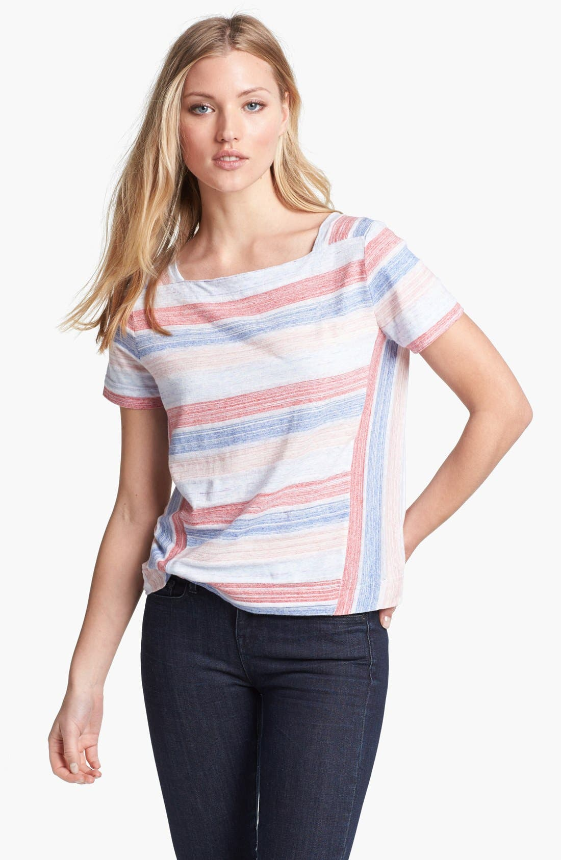 Alternate Image 1 Selected - MARC BY MARC JACOBS 'Sketch' Stripe Tee