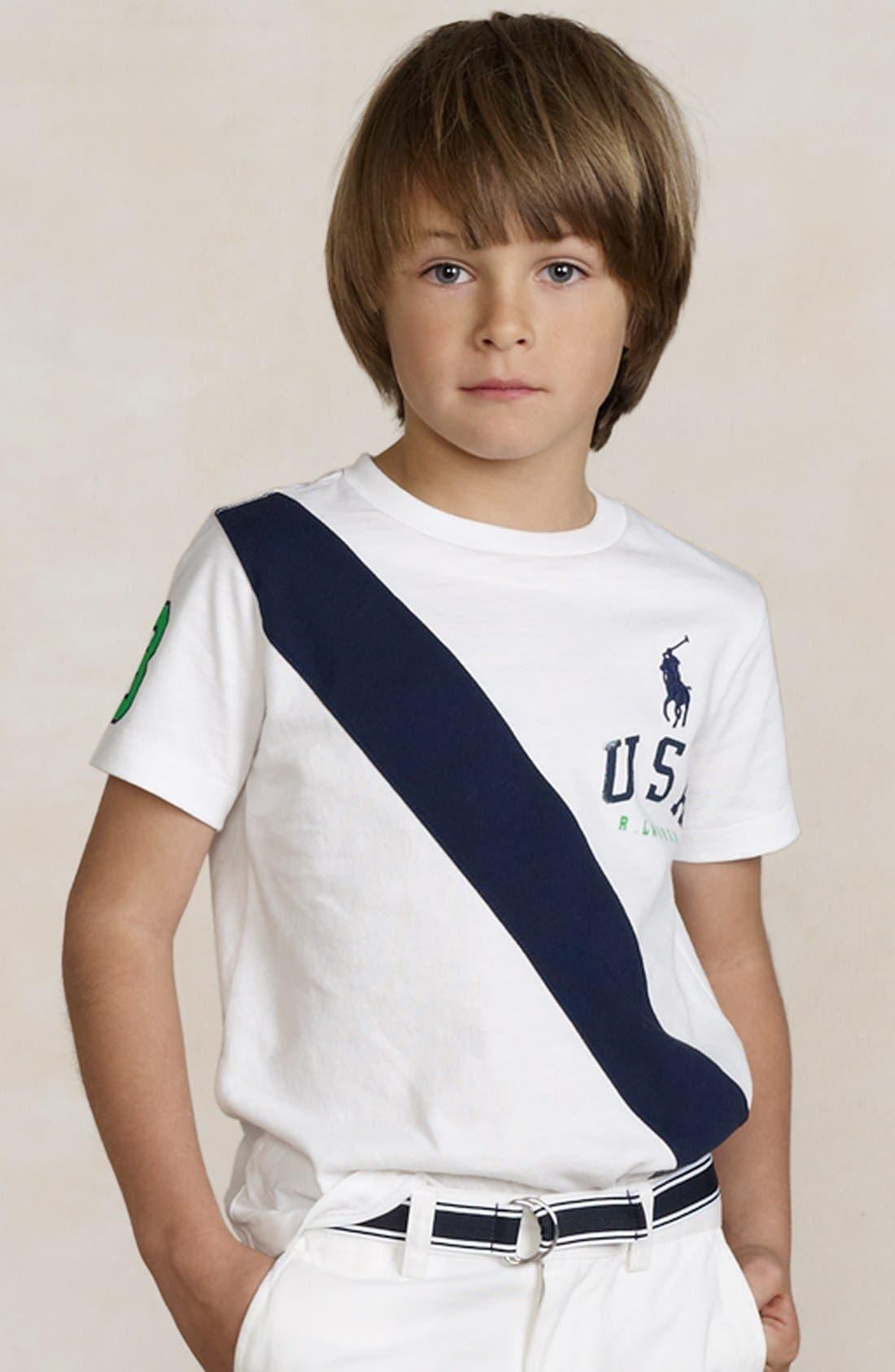 Alternate Image 2  - Polo Ralph Lauren 'USA Banner' T-Shirt (Toddler)