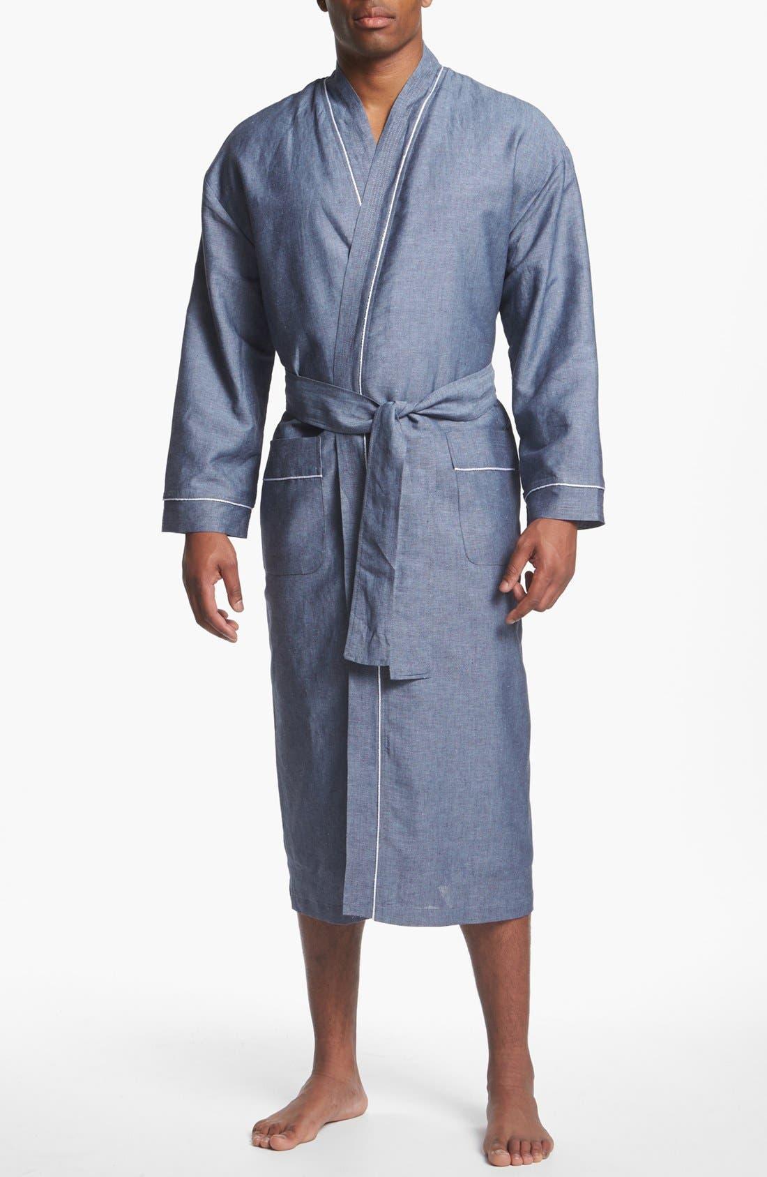 Main Image - Majestic International 'Capriz' Linen Blend Robe