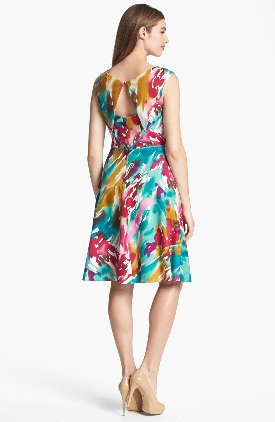 Alternate Image 2  - Adrianna Papell Cutout Fit & Flare Dress
