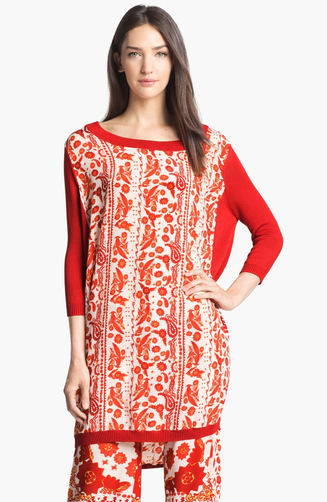 Alternate Image 1 Selected - Rebecca Minkoff 'Jai' Mixed Media Tunic Dress