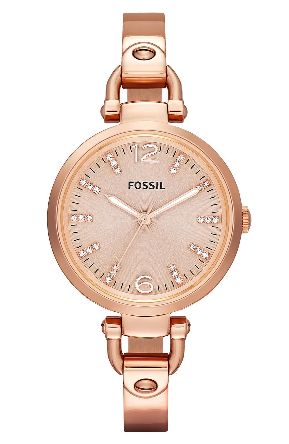 Alternate Image 1 Selected - Fossil 'Georgia' Tonal Dial Bangle Watch, 32mm