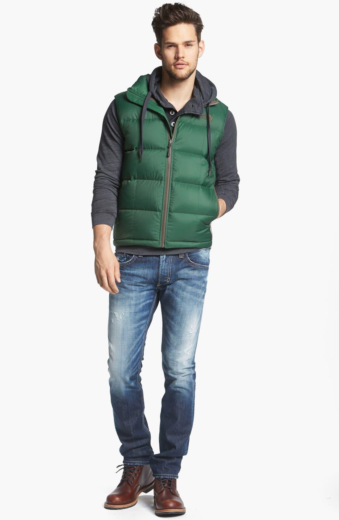 Alternate Image 5  - DIESEL® 'Thavar' Skinny Fit Jeans (0810L)