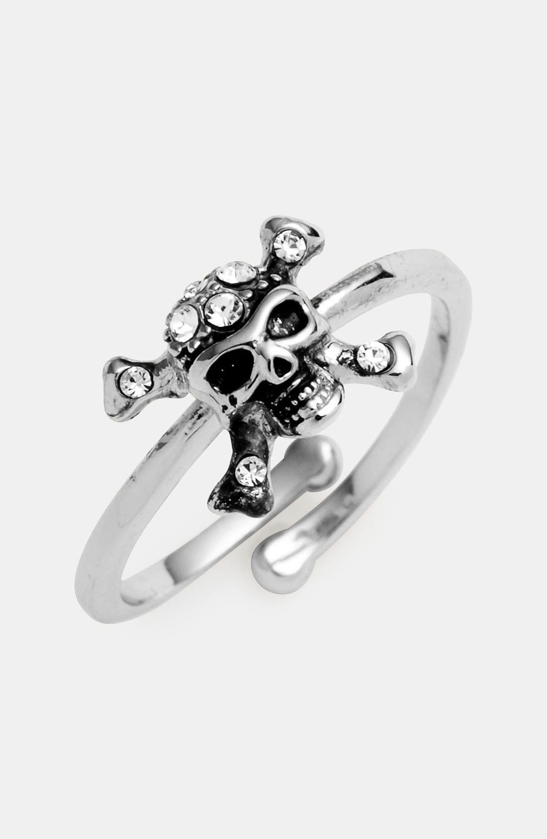 Main Image - Ariella Collection Skull Ring (Nordstrom Exclusive)