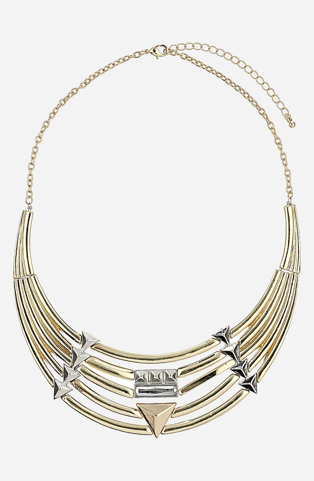 Main Image - Topshop 'Stud & Tube' Collar Necklace