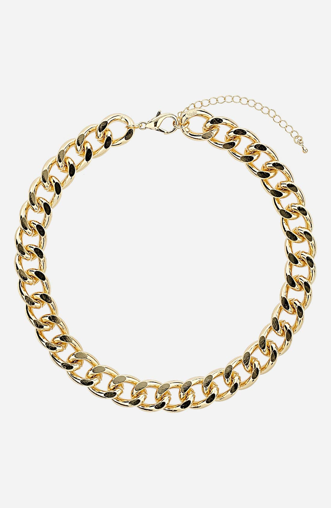 Main Image - Topshop Curb Chain Necklace