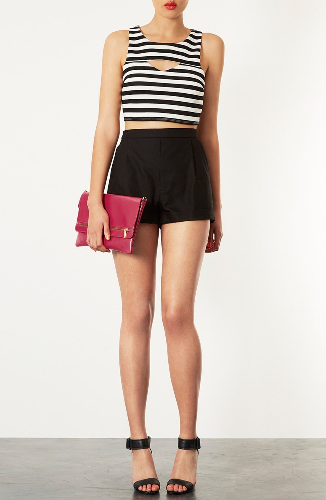 Alternate Image 2  - Topshop Leather Foldover Leather Clutch