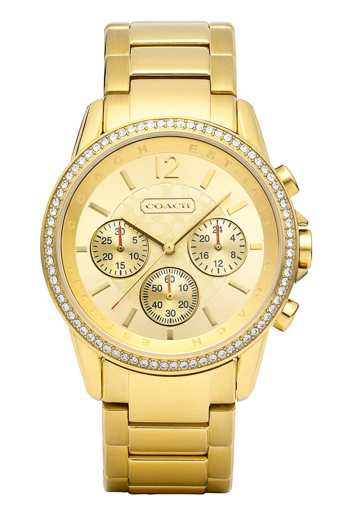 Alternate Image 1 Selected - COACH 'Classic Signature' Round Bracelet Watch, 39mm