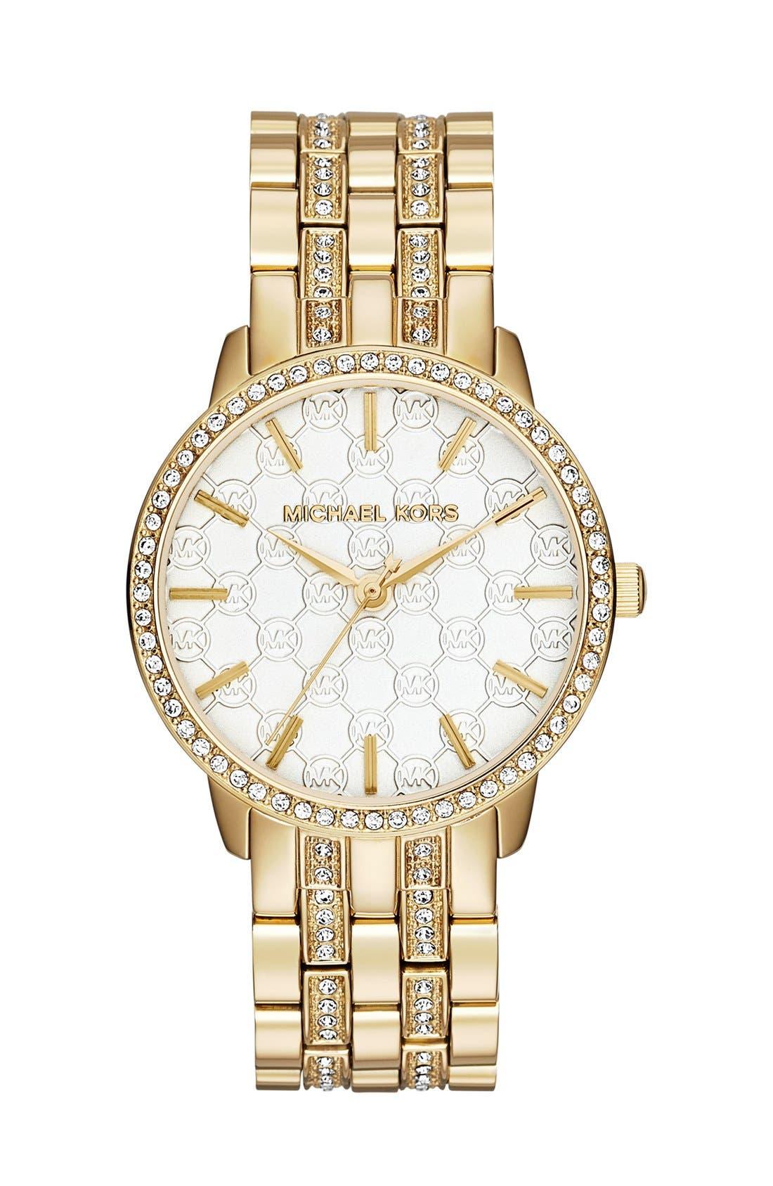 Alternate Image 1 Selected - Michael Kors 'Lady Nini' Round Bracelet Watch, 35mm