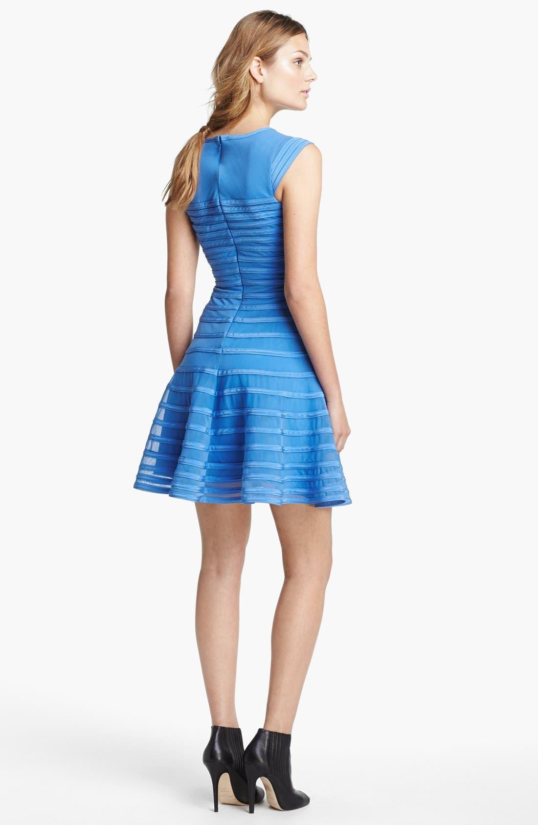 Alternate Image 2  - Halston Heritage Contrast Stripe Flare Dress