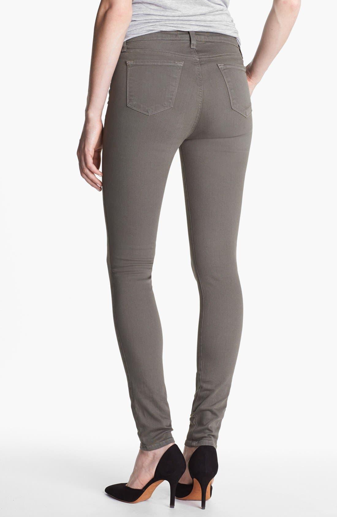 Alternate Image 2  - J Brand 'Maria' High Waist Skinny Stretch Jeans (Washed Mantis)