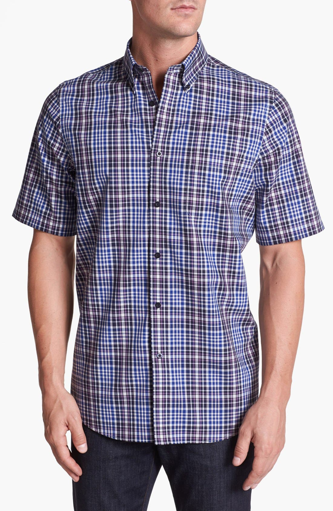 Alternate Image 1 Selected - Nordstrom Smartcare™ Regular Fit Poplin Sport Shirt