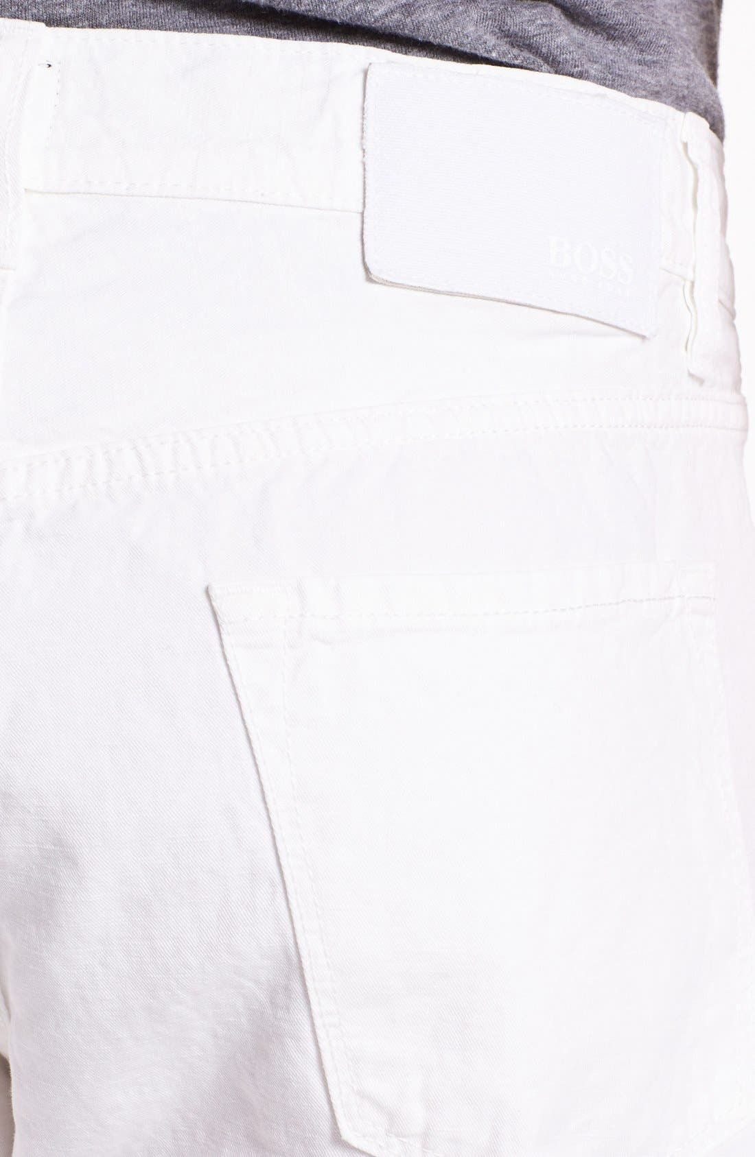 Alternate Image 3  - BOSS HUGO BOSS 'Maine' Five Pocket Cotton & Linen Pants