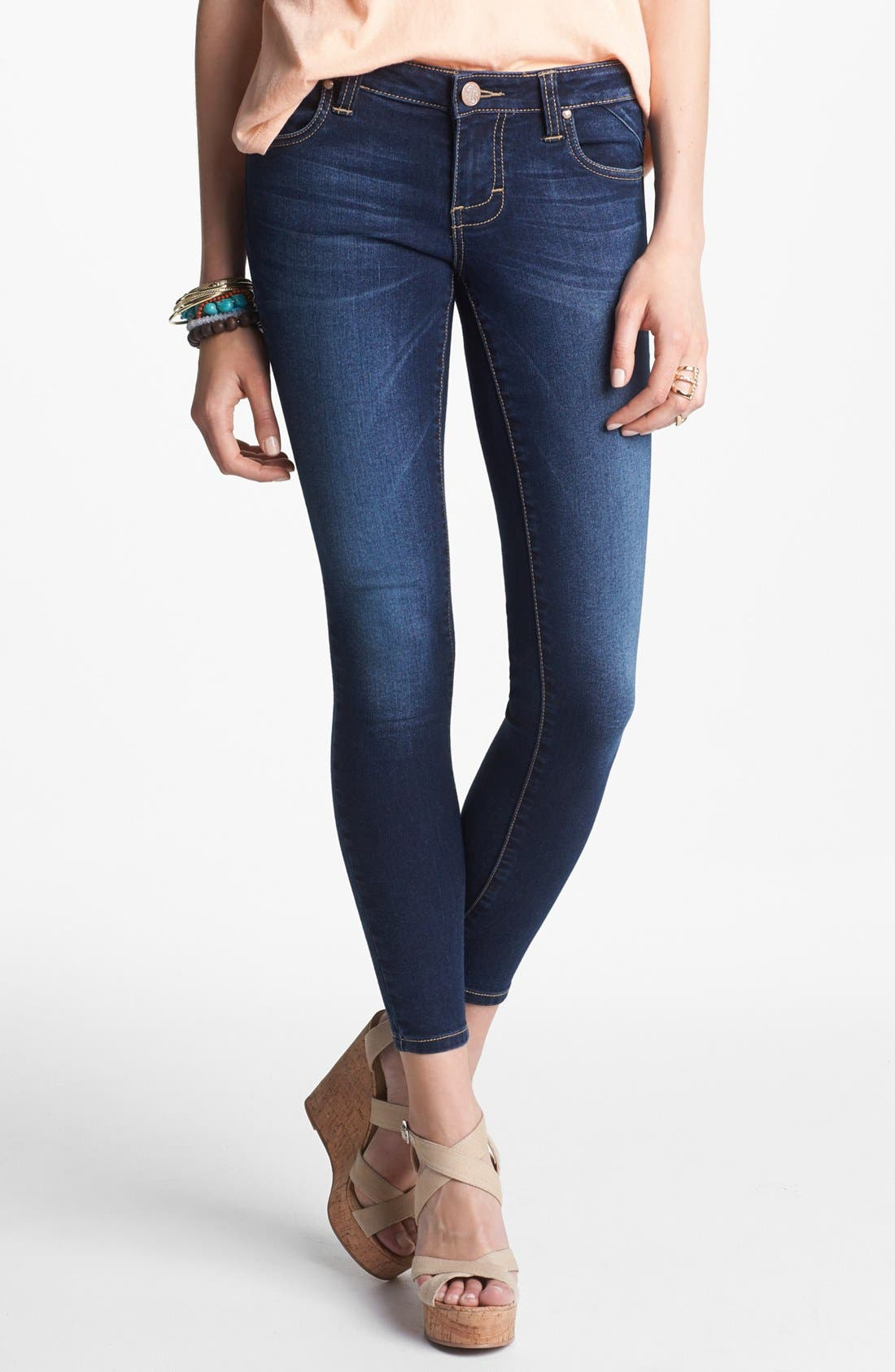 Alternate Image 1  - See Thru Soul 'State Beach' Skinny Jeans (Medium) (Juniors)