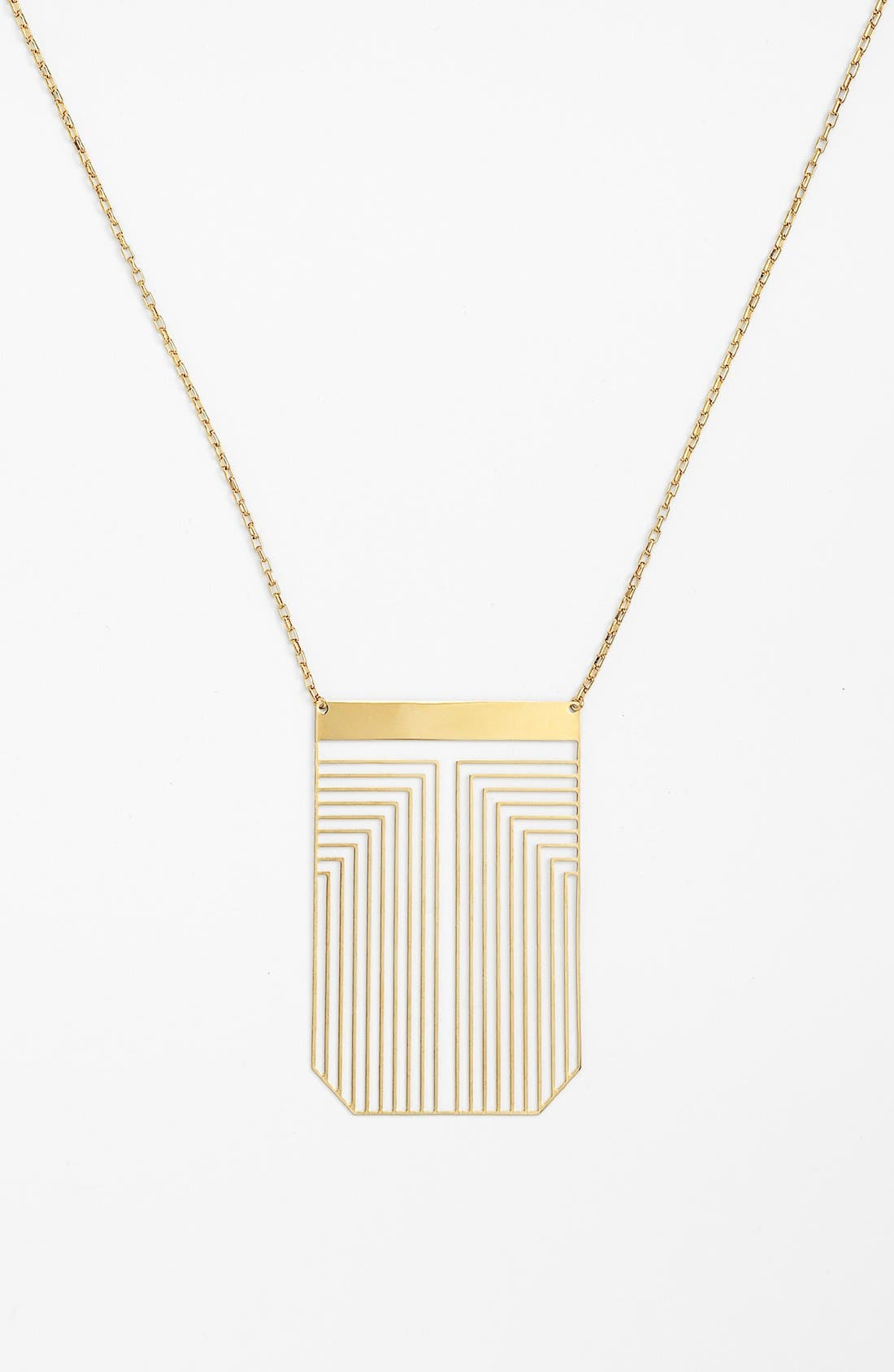 Alternate Image 1 Selected - Tory Burch 'Frete' Long Pendant Necklace