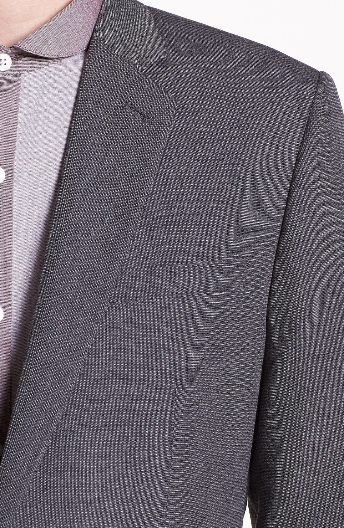 Alternate Image 3  - Topman Slim Fit Pin Dot Blazer