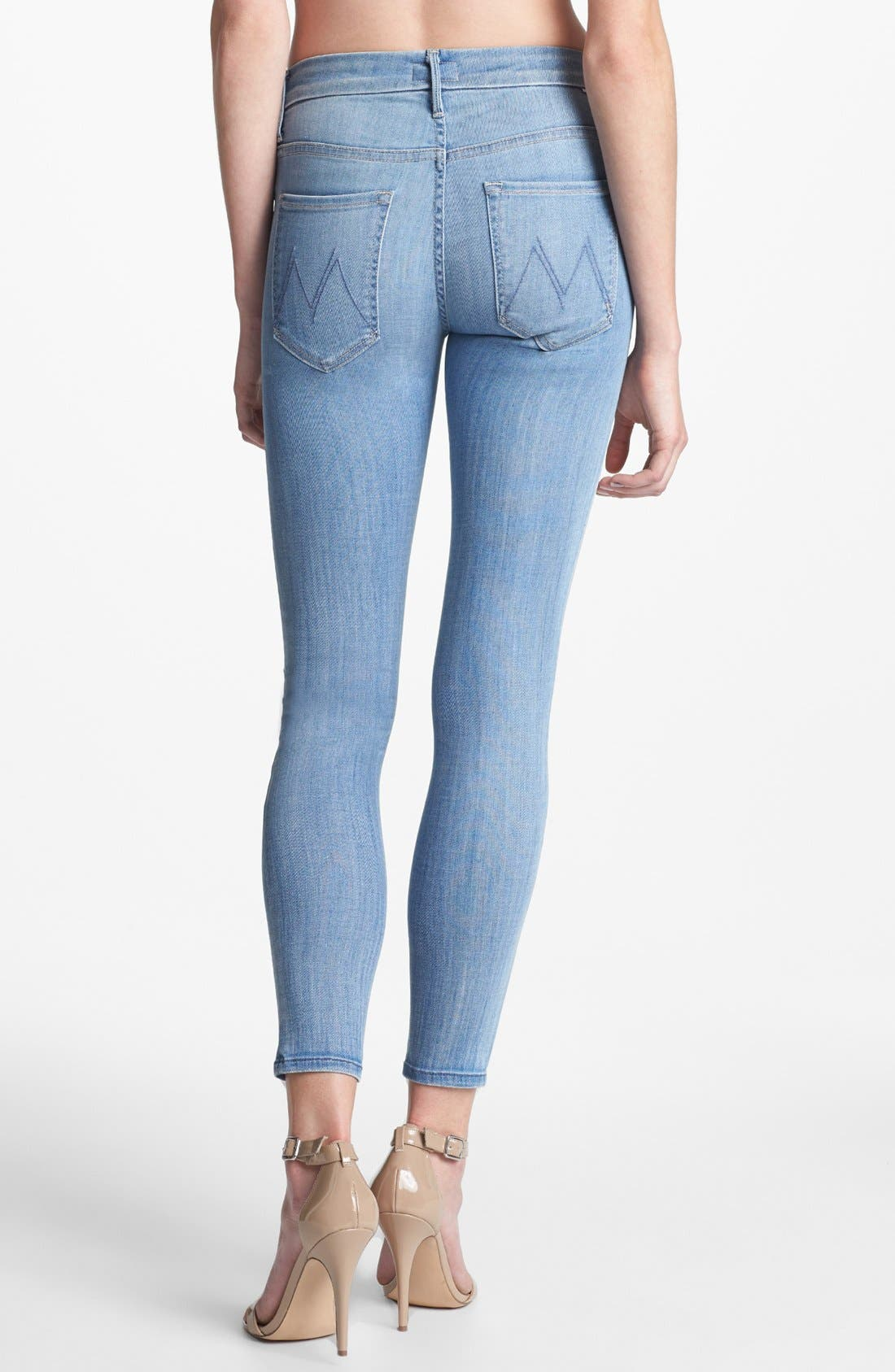 Alternate Image 2  - MOTHER 'The Looker' Skinny Crop Jeans (Welcome Home Garden Club)