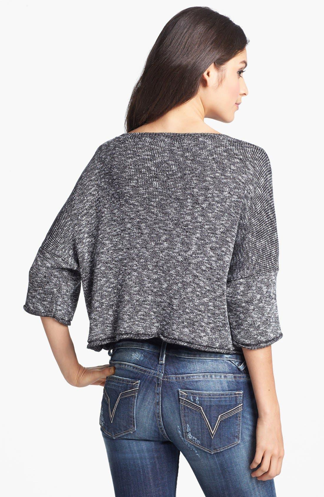 Alternate Image 2  - Truehitt Marled Crop Sweater (Juniors)