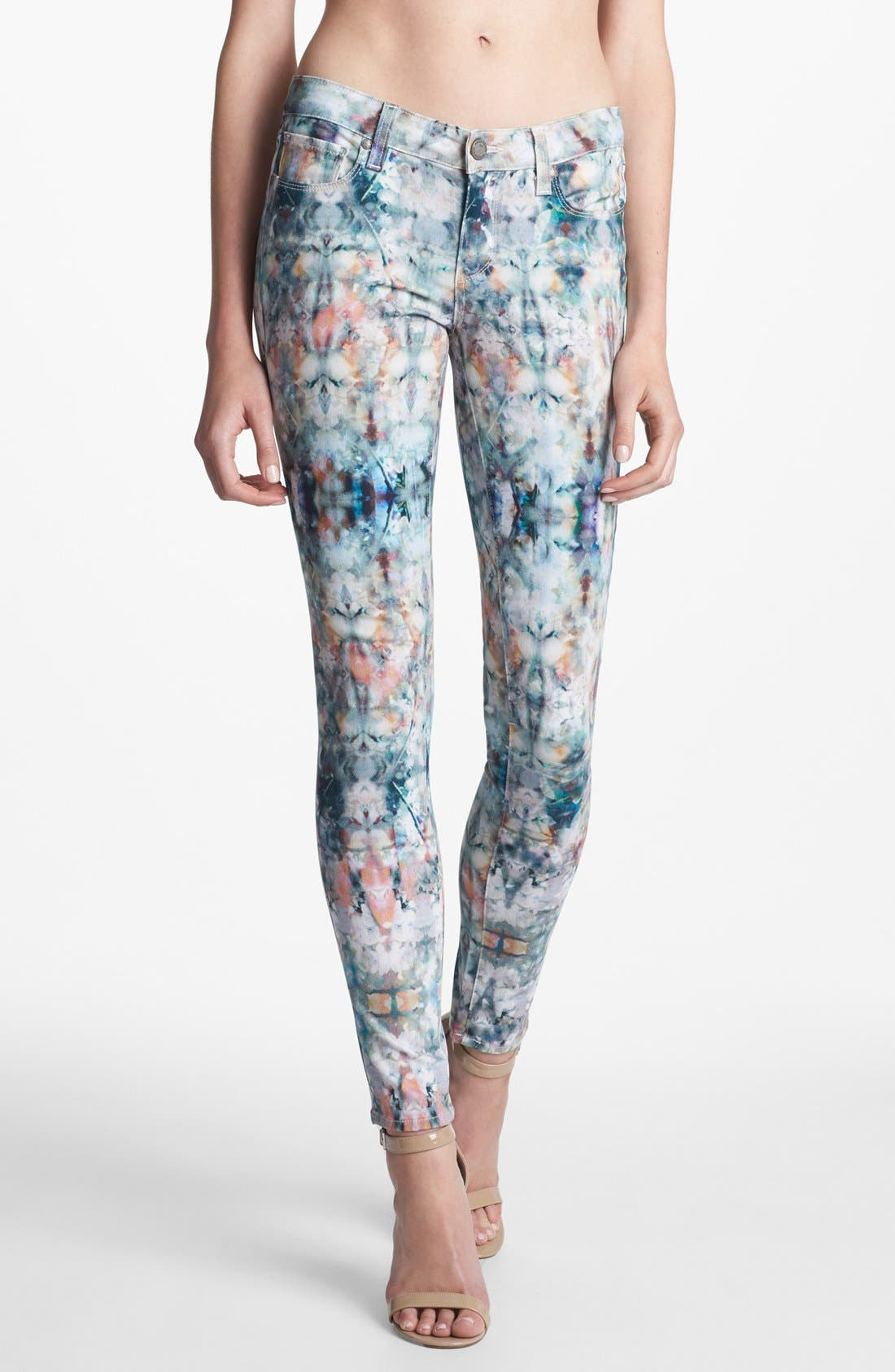 Alternate Image 1 Selected - Paige Denim 'Verdugo' Print Ultra Skinny Jeans (Daydreamer)