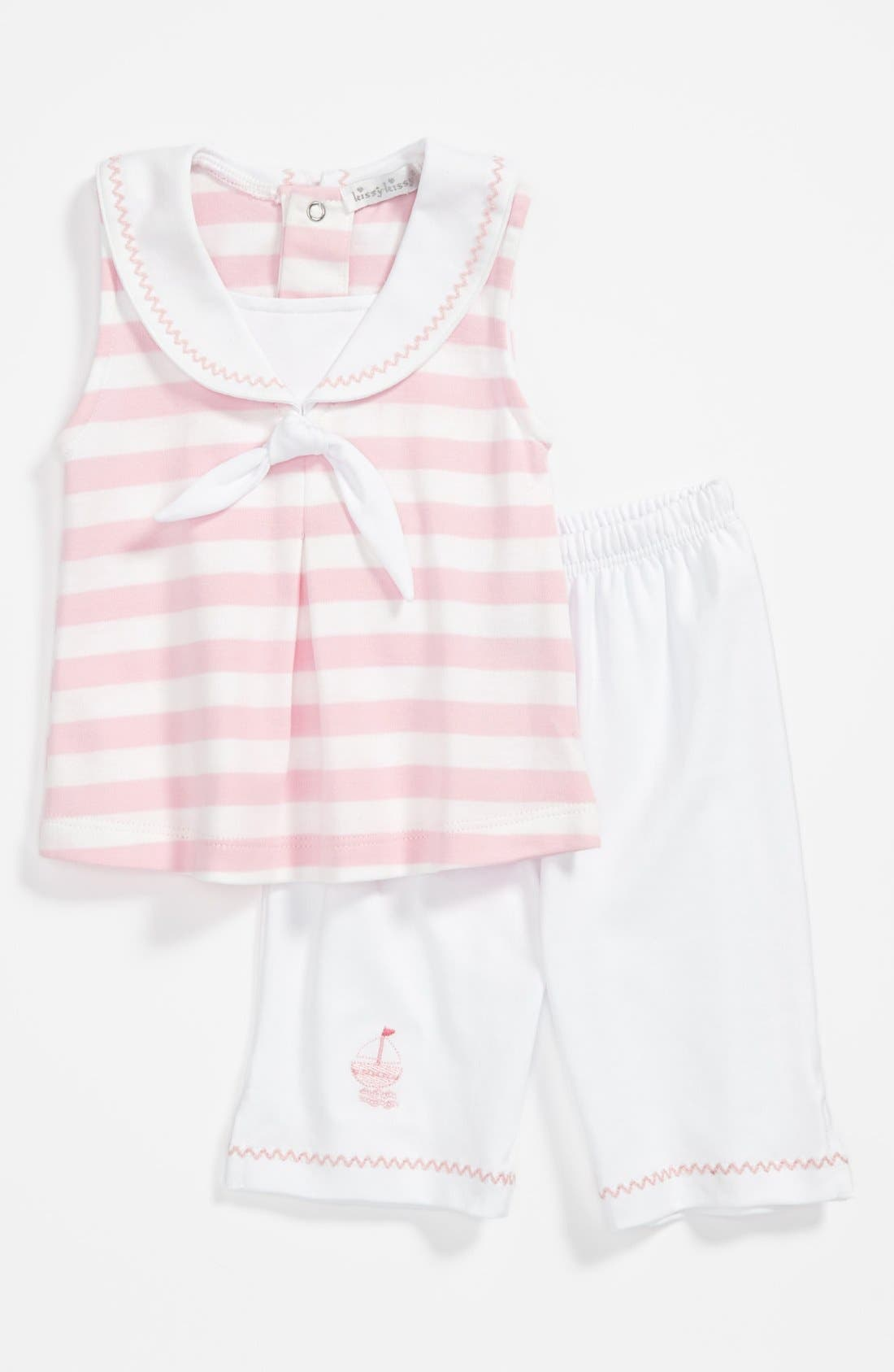 Main Image - Kissy Kissy Tank Top & Pants (Baby Girls)