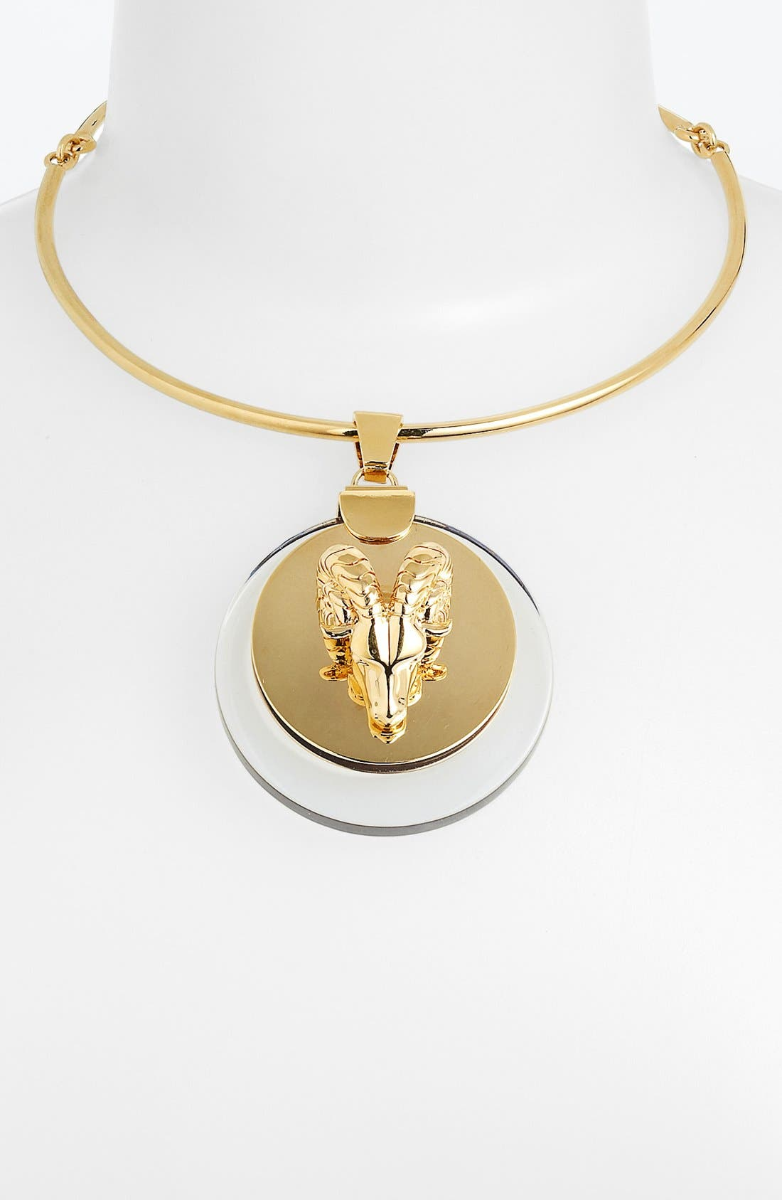 Alternate Image 2  - Tory Burch Ram Head Pendant Necklace