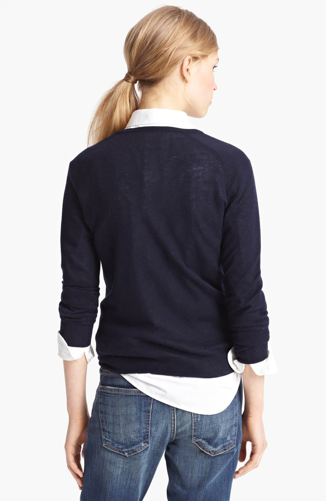 Alternate Image 2  - Band of Outsiders Silk & Cashmere Sweater