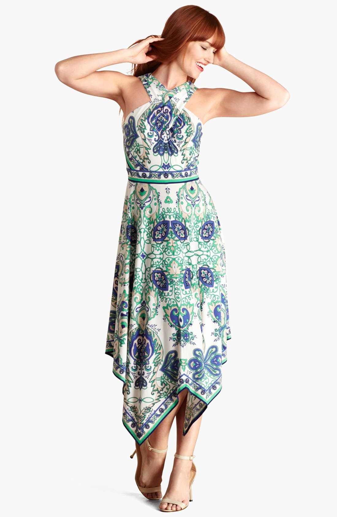 Main Image - Donna Morgan Print Jersey Midi Dress