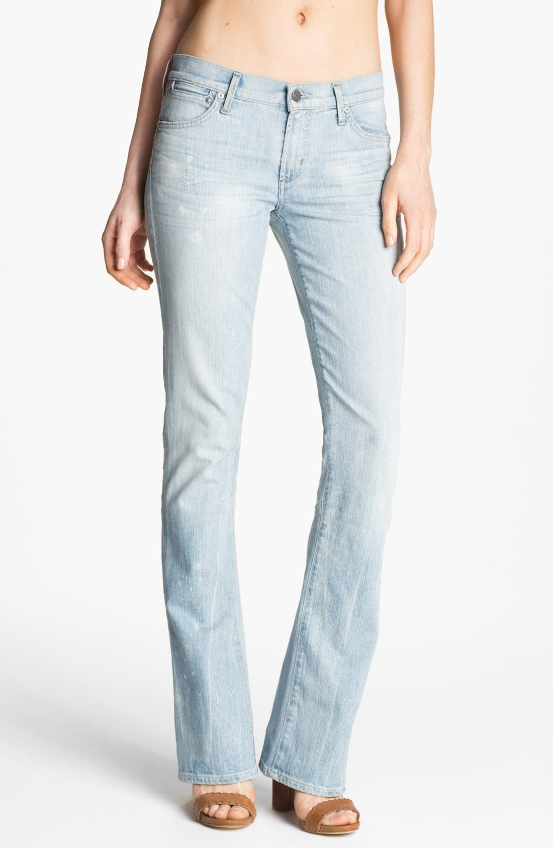 Alternate Image 1 Selected - Citizens of Humanity 'Emanuelle' Slim Bootcut Jeans (Sorbet)