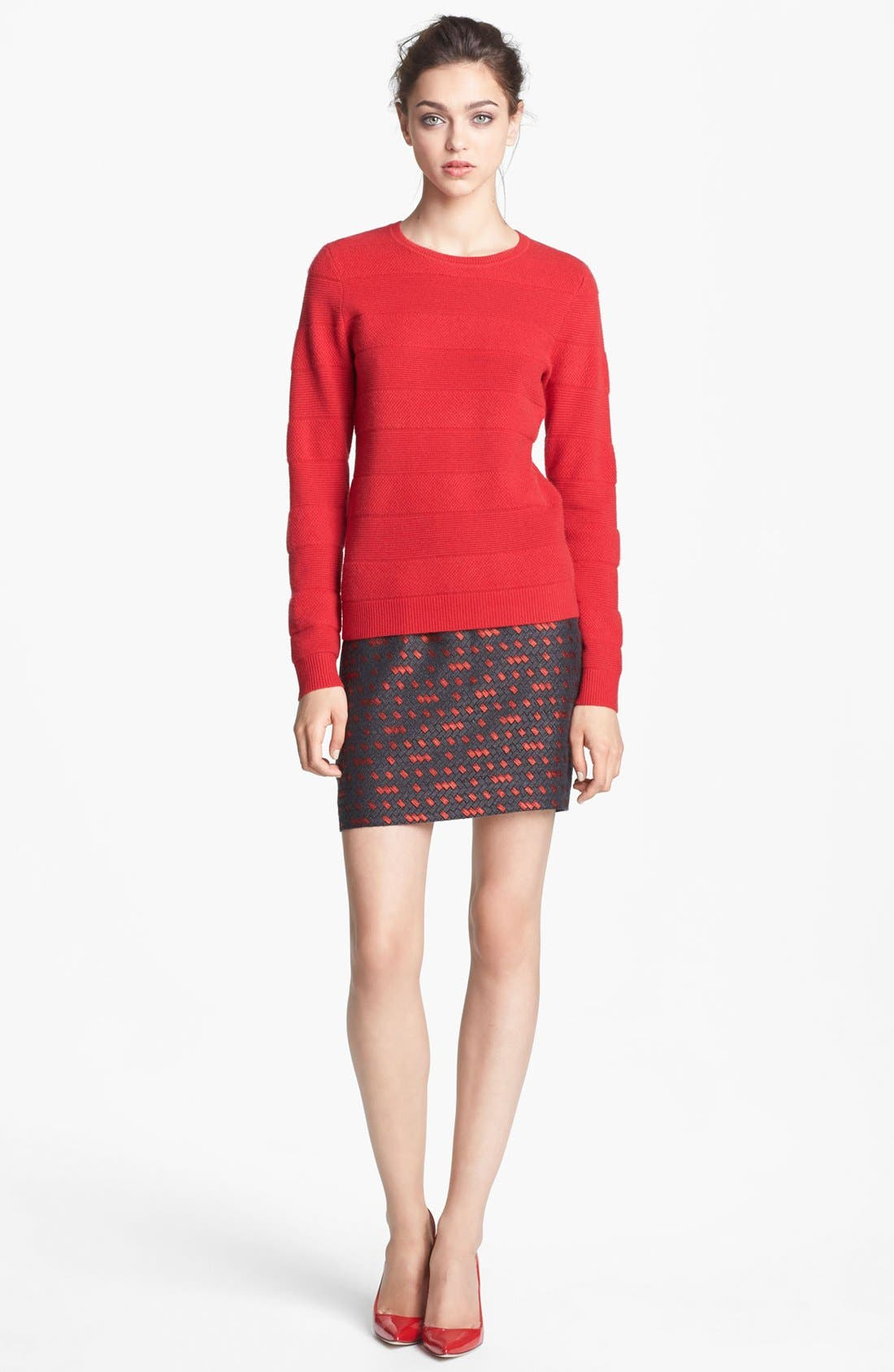 Alternate Image 2  - Miss Wu 'Polimero' Textured Stripe Cashmere Sweater (Nordstrom Exclusive)